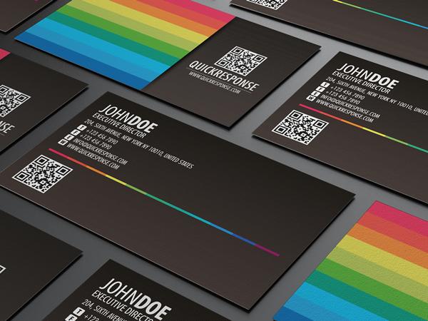 Quick response business card design ver 04 on Behance