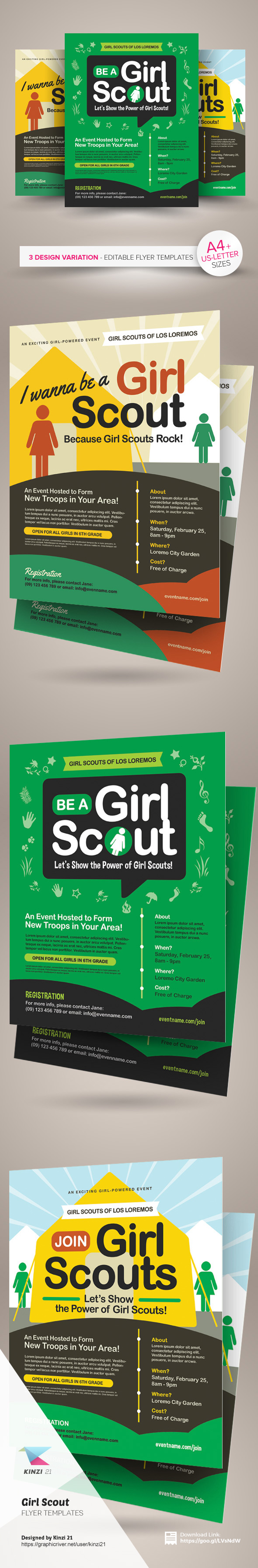 girl scout flyer templates on behance girl scout flyer templates are fully editable design templates created for on graphic river more info of the templates and how to get the sourcefile
