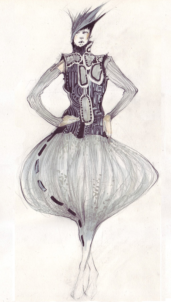 fashion sketches in pencil on behance