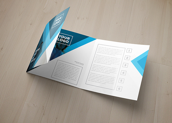 Eagas Tri Fold Square Brochure Template