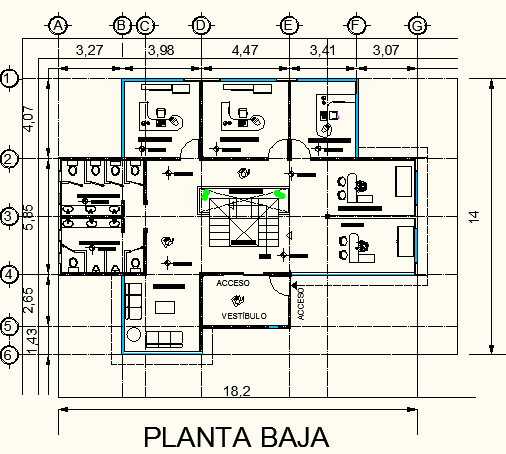 Villa universitaria on behance for Oficinas planta arquitectonica