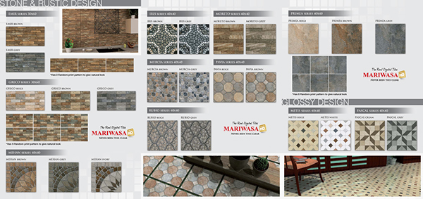 Mariwasa Full Hd Tiles Tri Fold Brochure On Behance