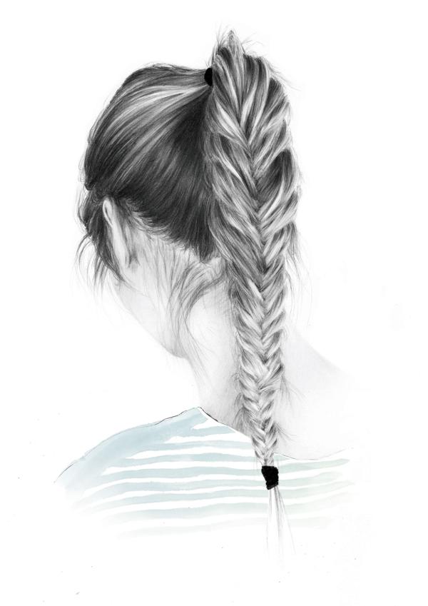 how to draw a braid i draw fashion - 595×841