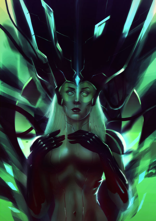 CYBER QUEEN by mehdi ouarraki