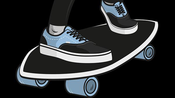 skate Illustrator graphic design moustache nicolas bocquet