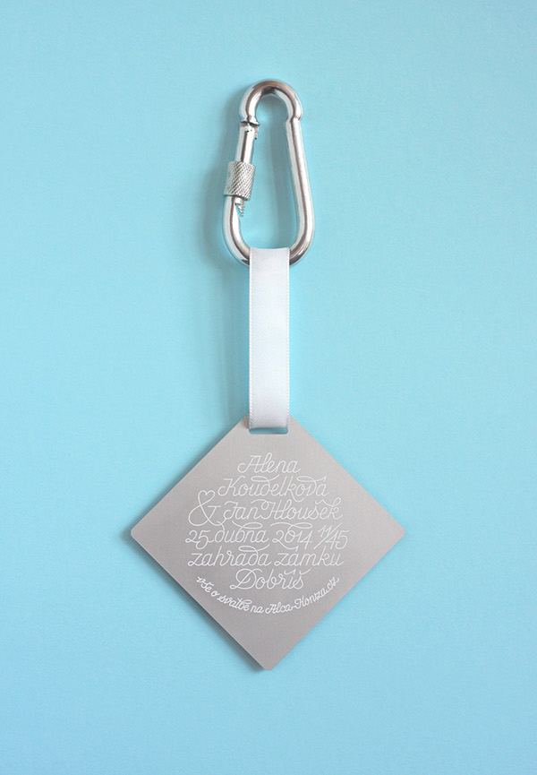 kajnar,Czech,Wedding Card,lettering,Lumir Kajnar,Invitation,aluminium,laser,debossing