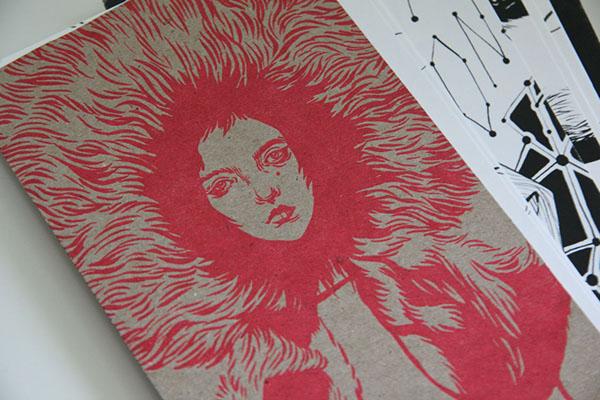 fashion illustration ink black and white Zine  self-published DIY letterpress