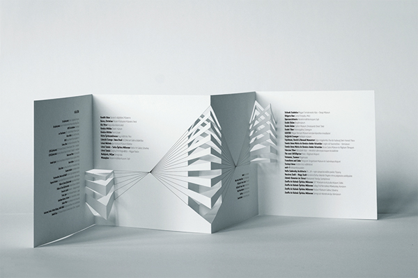 Architecture Design Brochure architectural model festival brochure on behance