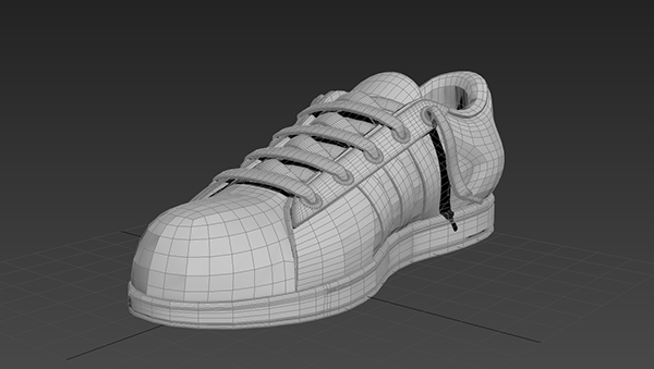 3D adidas superstar 3D Studio Max
