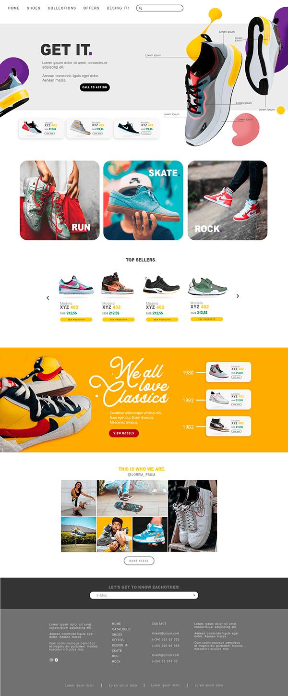 Shoe Web Design