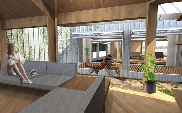 Competition container vacation house sydney on behance for U shaped container home