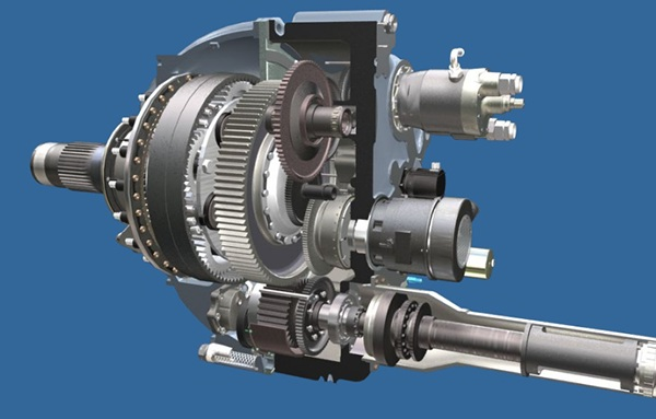 reduction gear box assembly cutaway