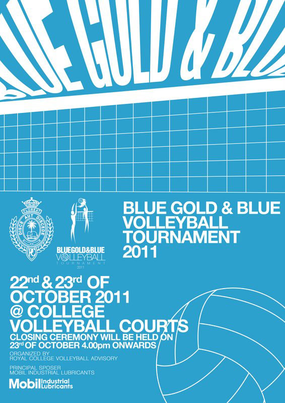 Volleyball Tournament Poster Blue Volleyball Tournament