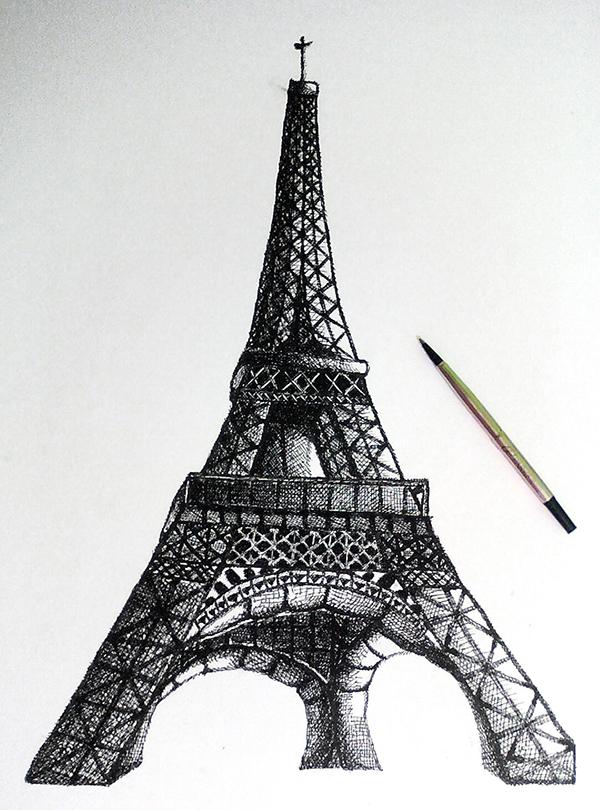 Eiffel tower hatching on behance thecheapjerseys Gallery
