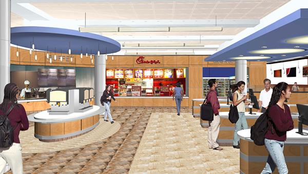 The University of Memphis, University Center: Food Court View