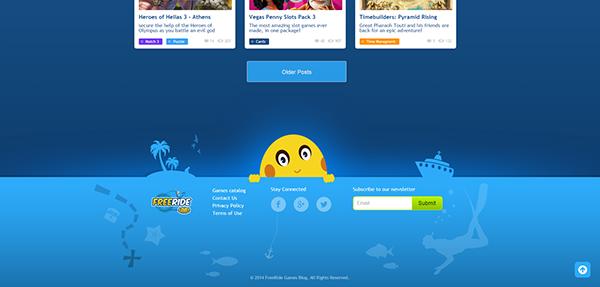 wordpress Custom Theme design Games