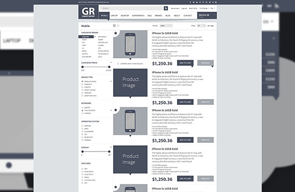 Online Shop Webdesign Wireframe Kit On Behance