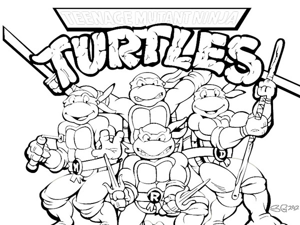 t ninja turtles coloring pages - photo #11