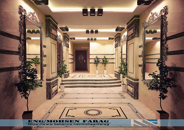Residential tower entrance on aiga member gallery - Residential interior design jobs ...