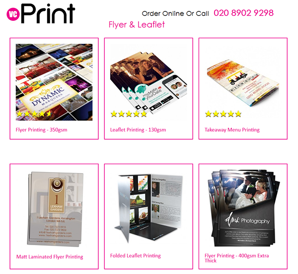 leaflets printing on student show