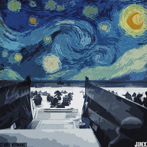 artist deconstruction a starry night