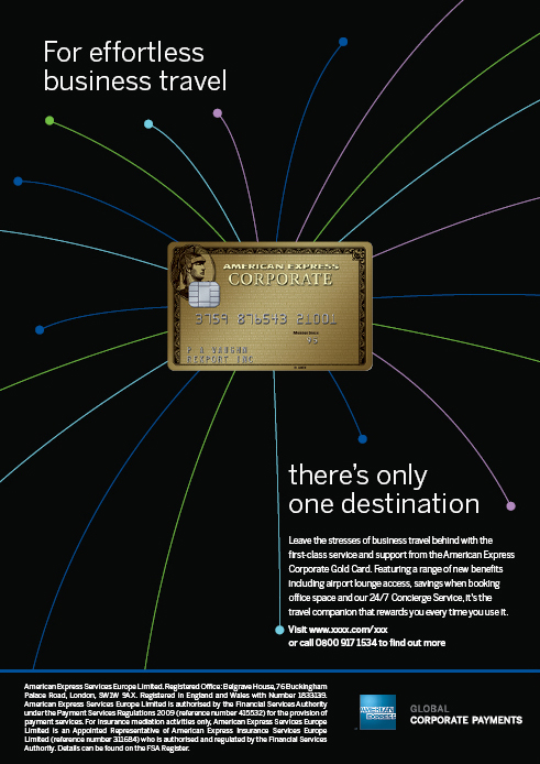 American express on behance the welcome pack reflects the look and feel of the launch ad and uses the flight lines to lead the eye to the card when fully opened colourmoves