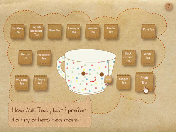 Interface Design | Cheer with a cup of tea on Behance
