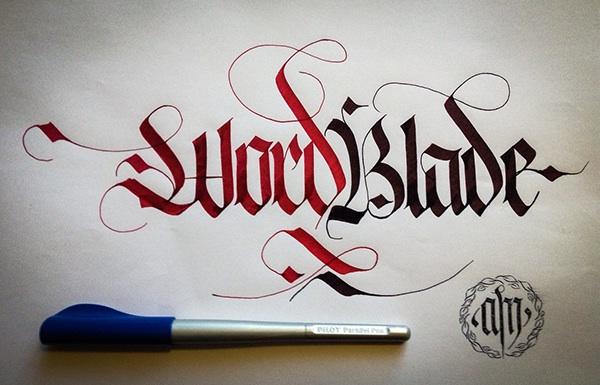 Calligraphy Fraktur Lettering On Student Show