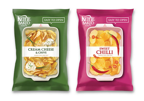 brand graphic package kettle potato chips redesign concept design