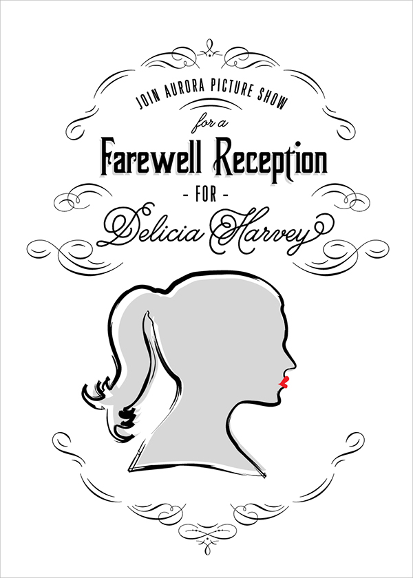 Aurora Picture Show Farewell Party Invite DH on AIGA Member Gallery – Farewell Party Invitation Email