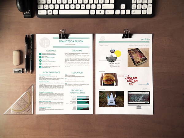 cv pages InDesign