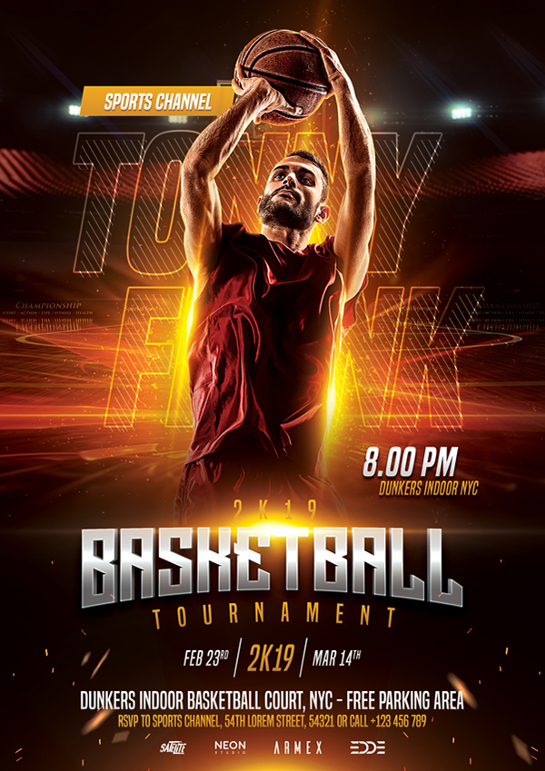 Basketball Flyer Template on Student Show