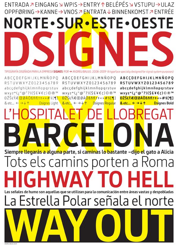 Andreu Balius type design sans serif contemporary Custom signal functional spanish barcelona