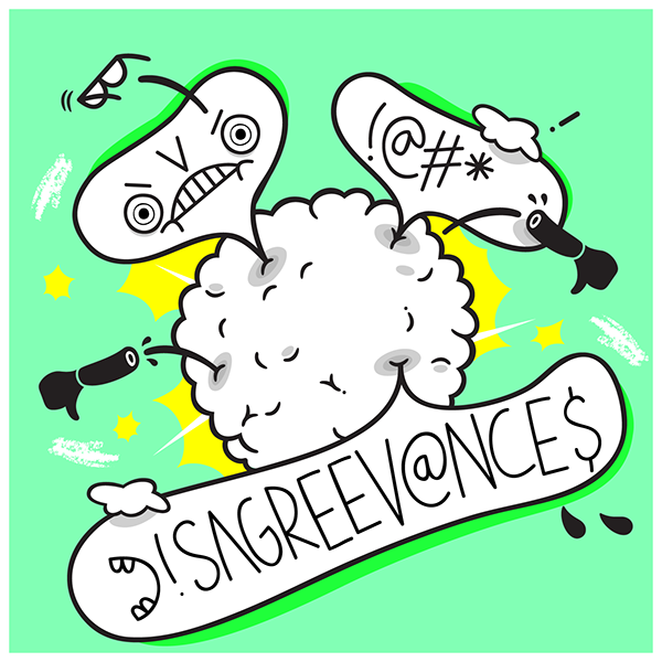 speech speechbubbles fight Thumbsup podcast graphics design handdrawn