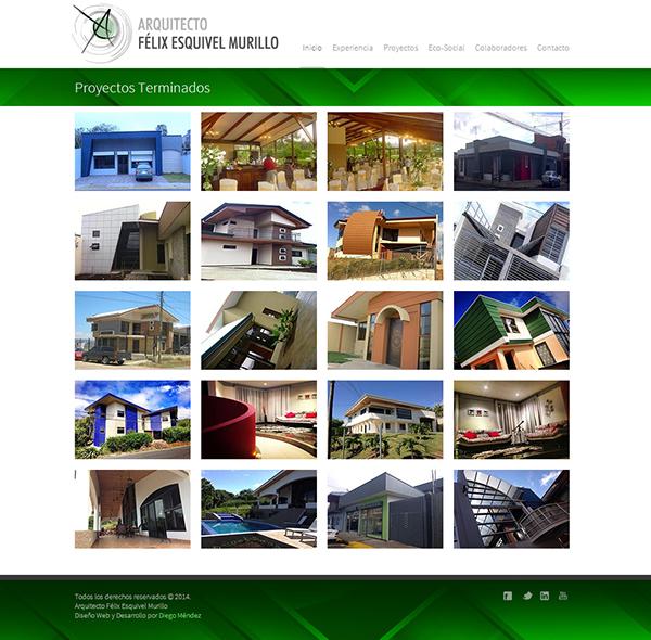 architect houses construction Website Responsive css