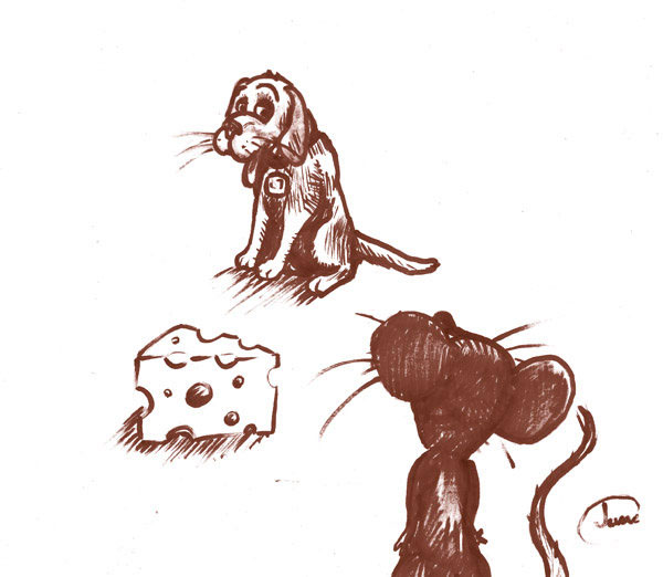 mouse souris dog chien MAX