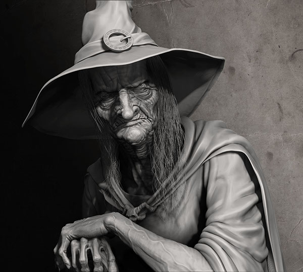 Evil Witch Drawing Evil Witch