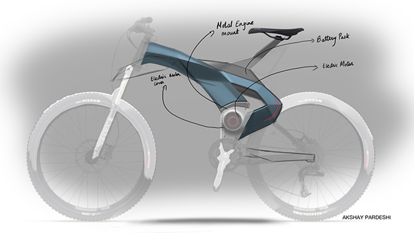 Electric Motoped Concept on Behance