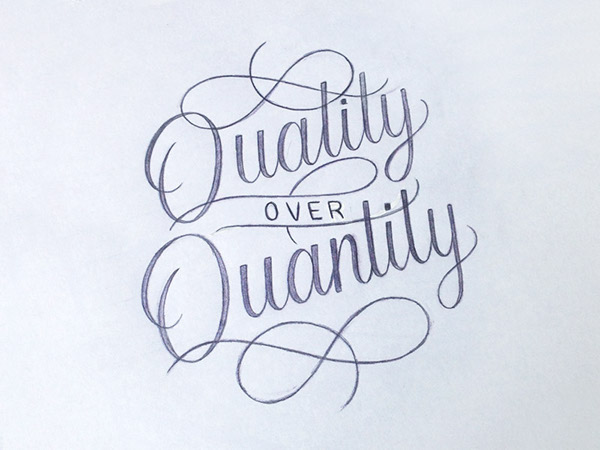 quality over quantity on behance
