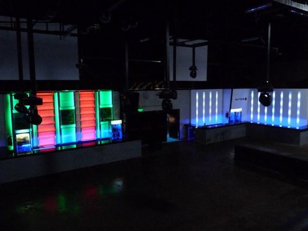 iluminacin led diseo de barras en disco cool site