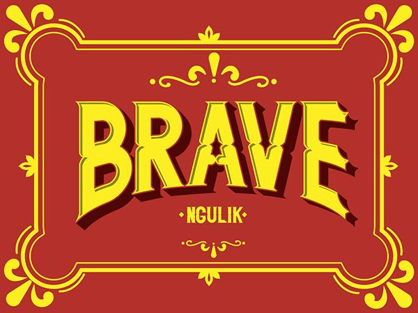 Brave Typeface On Behance