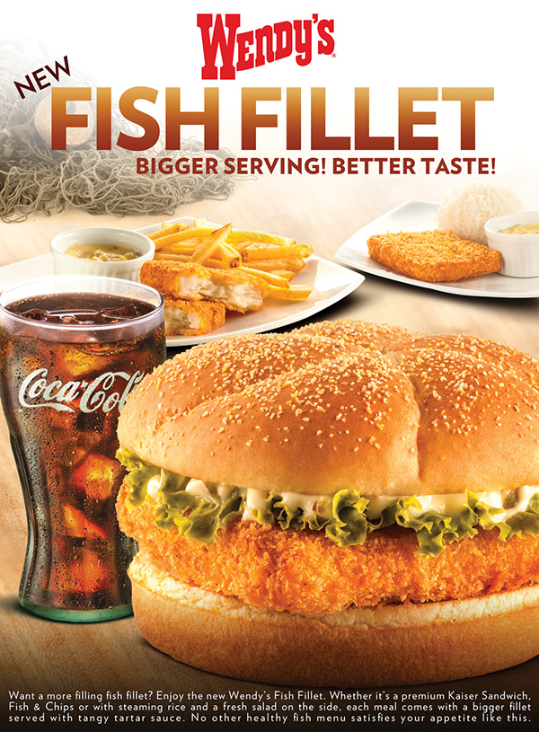 Wendy 39 s fish fillet on behance for Wendy s fish sandwich