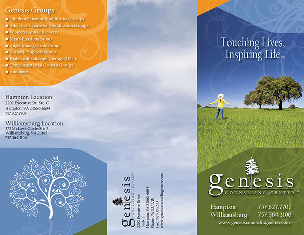 counseling brochure templates free - gensesis counseling center on behance