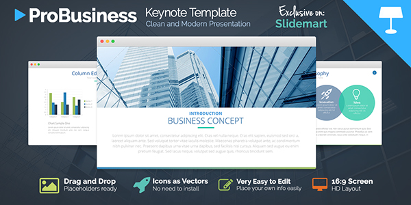 free probusiness keynote presentation template on behance, Presentation templates