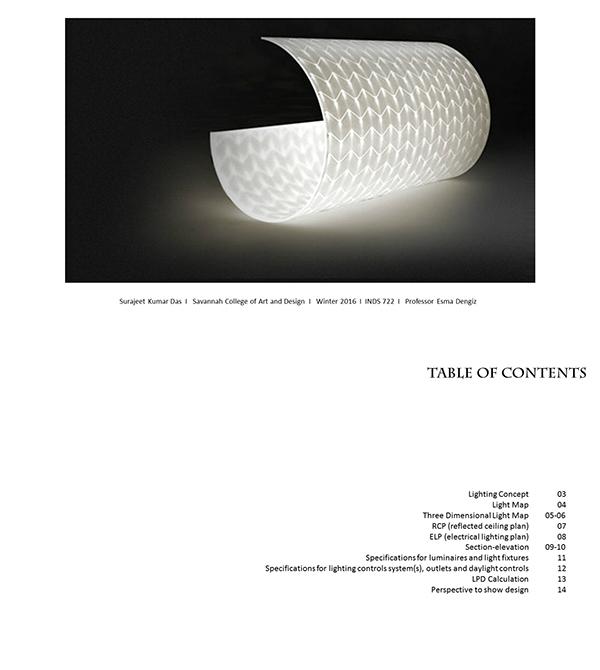 Interior Lighting Design On Scad Portfolios