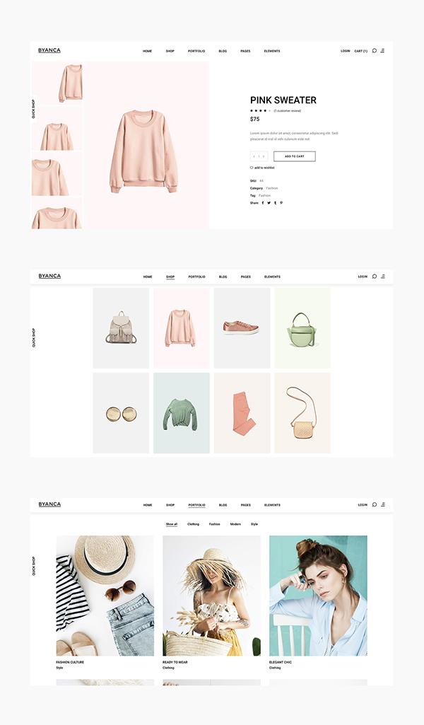 Byanca - Fashion Brand Concept Website