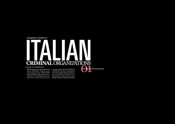 the italian mafia an overview An overview here - list of italian mafia crime families - wikipedia ontario: in southern ontario there are two types of italian organized crime cosa nostra .