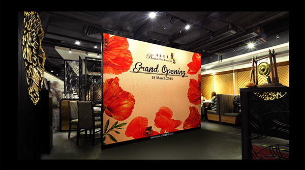 Bangkok thai restaurant grand opening backdrop on