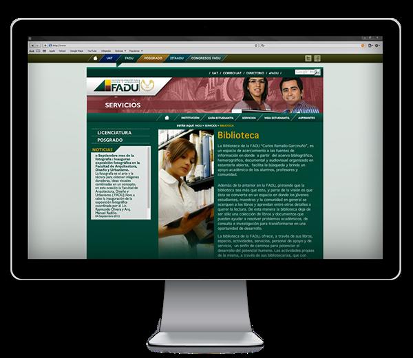 Sitio web fadu uat on pantone canvas gallery for Pagina web ministerio interior