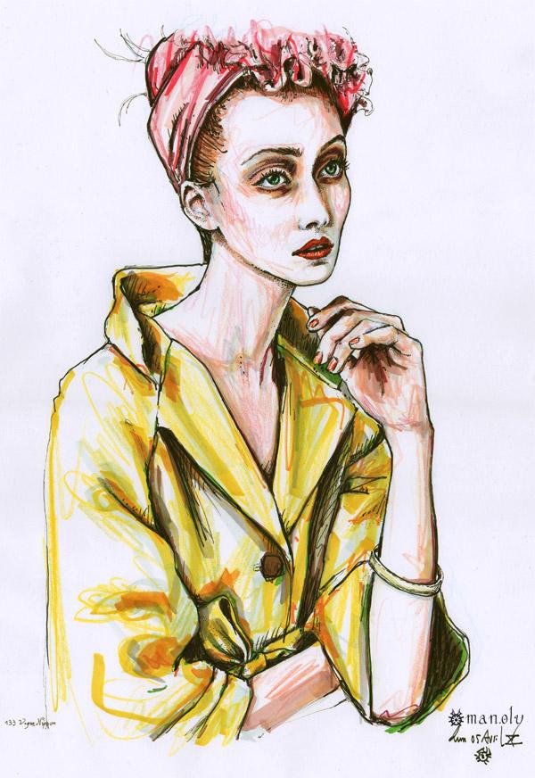 fashion illustration portfolio Holy Mane